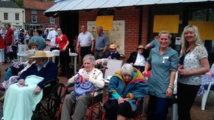 Residents of Wainfleet Care Home