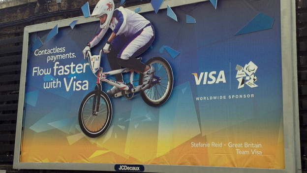The Visa advert at Paddington