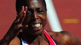 Jeanette Kwakye runs in Helsinki