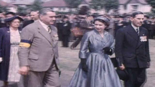 Queen's 1953 NI visit captured on colour film