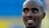 Mo Farah runs for victory at the Olympic Trials in Birmingham