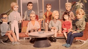 The cast of Thunderbirds circa 1965