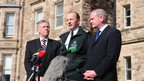 NI First Minister Peter Robinson was joined by Deputy First Minister Martin McGuinness and PSNI Chief Constable Sir Hugh Orde at a press conference