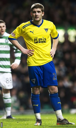 Kyle Hutton while on loan to Dunfermline