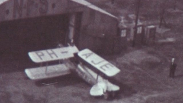 Archive footage of Yeadon Aerodrome