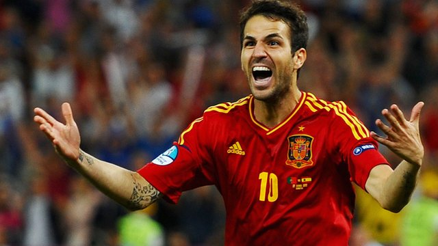 Cesc Fabregas wins Euro 2012 semi-final for Spain