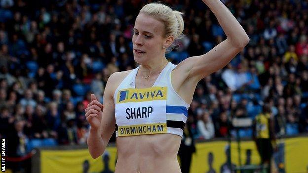 Lynsey Sharp leads the race in Birmingham
