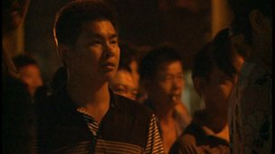 Onlookers along Shaxi's streets
