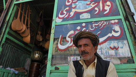 Music shop owner in afghanistan
