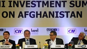 Delegates at the India-Afghanistan summit