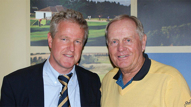 Graham Spiers and Jack Nicklaus