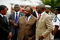 President Ali Bongo Ondimba at the ivory burning