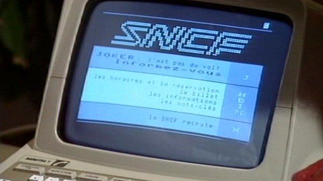 Minitel screen