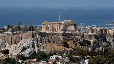 The Acropolis in a photo taken on 21 June