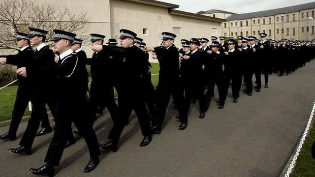 Police training college recruits