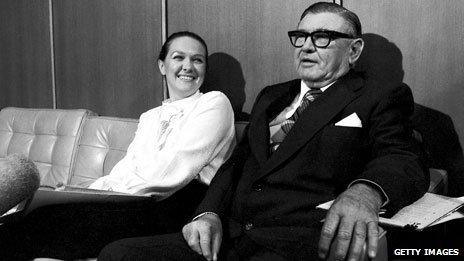 Gina and father Lang Hancock