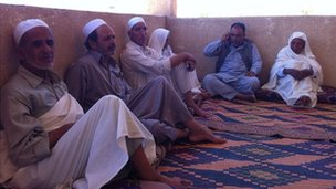 Tribal elders mourn the death of Abdul Salam Ghuz in Zintani