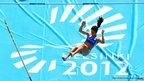 Ekaterini Stefanidi of Greece competes in the women&#039;s pole vault 