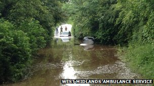 Submerged car, Frankley