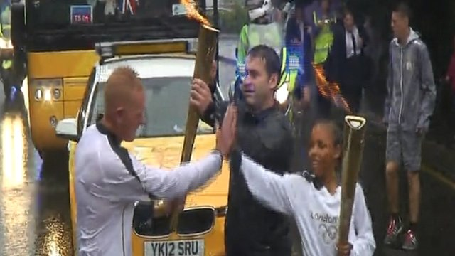 Ella carries the Olympic torch