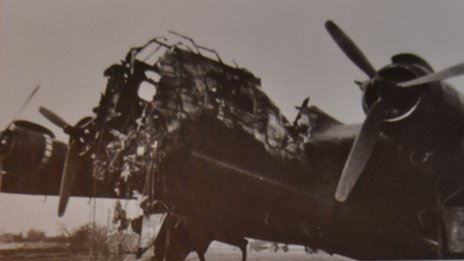 Douglas Vince's shot down Stirling bomber