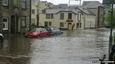 Floods in the lake district 2012