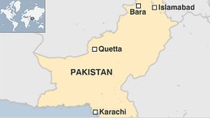 Map or Pakistan
