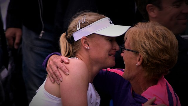 Britain's Elena Baltacha and Judy Murray