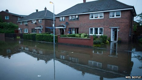 Flooded Ladas Drive, East Belfast