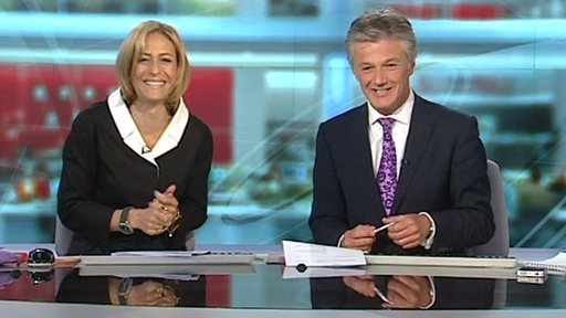 BBC presenters Emily Maitlis and Tim Wilcox