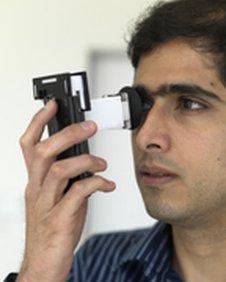Man testing Netra