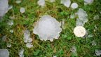 Hailstones in Burbage, Leicestershire, image by John Bourne