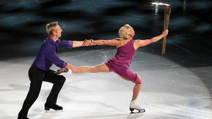 Jayne Torvill and Christopher Dean figure skating in Nottingham