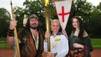Laura Graves carried the Olympic flame through Sherwood Forest, 28 June 2012