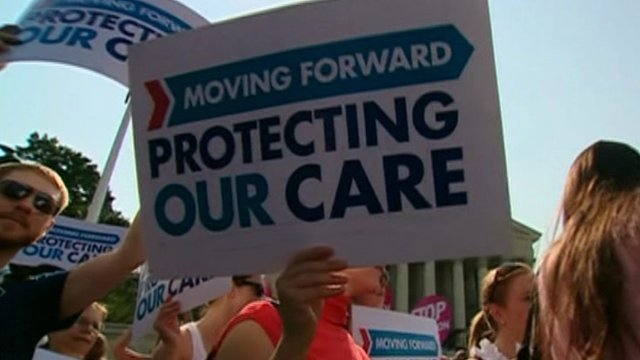 Affordable Care Act (ACA) supporters in Washington
