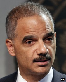 Attorney General Eric Holder speaks during a news conference in New Orleans 28 June 2012