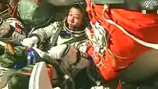 Astronaut on Shenzhou-9 spacecraft