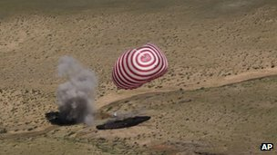 China's manned space craft touches back down to Earth on 29 June 2012