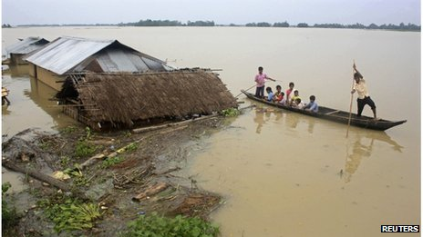 Almost one million people have been displaced by the floods
