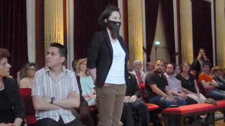 La Barbe activist in Freemason's lodge
