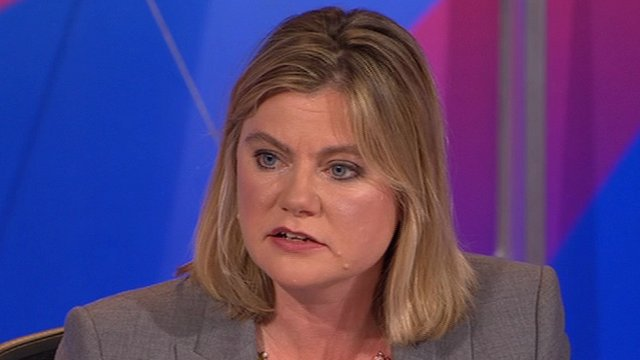 Justine Greening on Question Time