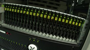 Rack of servers