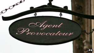 Agent Provocateur shop sign