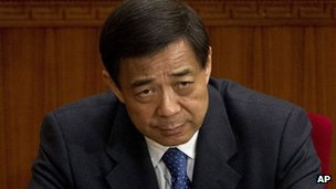 File photo: Scandal-hit Chinese politician Bo Xilai