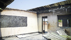 Vandalised school in South Sudan