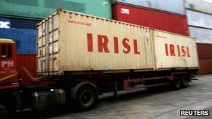 IRISL containers in Singapore