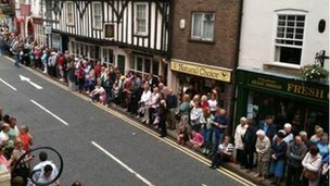 Spectators in Ashbourne