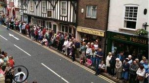 Spectators in Ashbourne