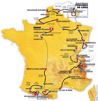 Tour de France route