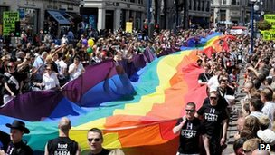Gay Pride event in 2008